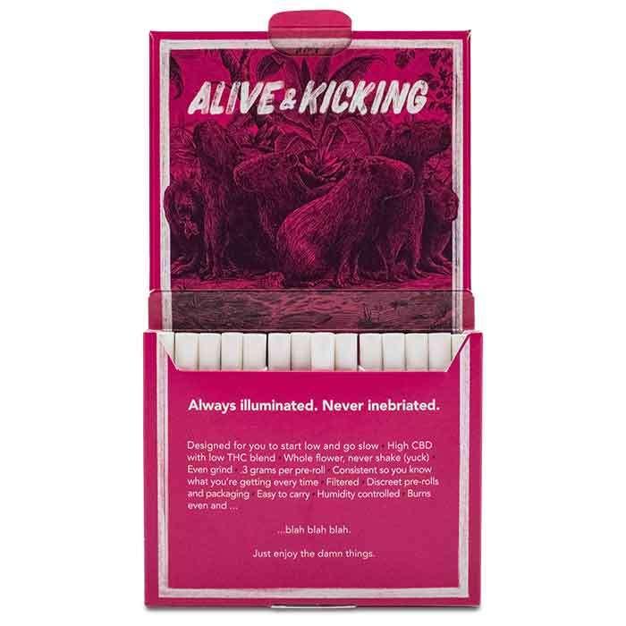 Alive & Kicking | 2:1 Cbd Preroll 14-pack