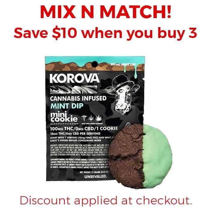 Korova | Mint Mini Dip Single Cookie