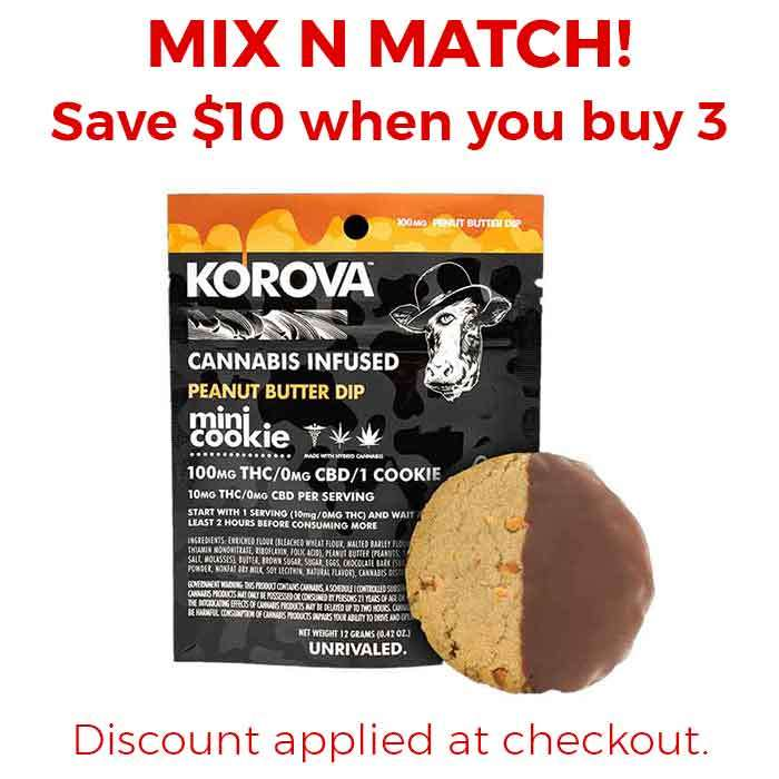 Korova | Peanut Butter Mini Dip Single Cookie