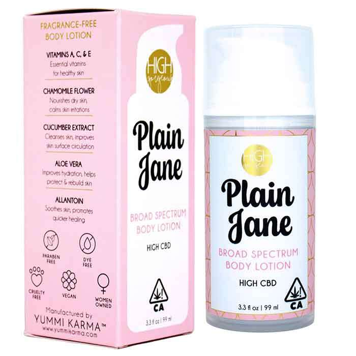 Yummi Karma  | High Gorgeous | Plain Jane CBD Lotion