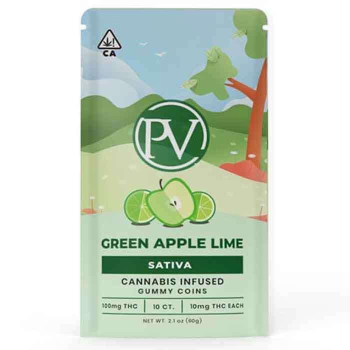Platinum Vape | Green Apple Lime | Gummy Coins