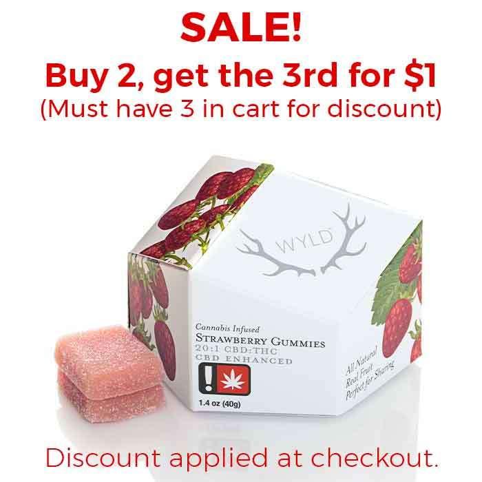 Wyld | Strawberry Gummies | 20:1 CBD:THC