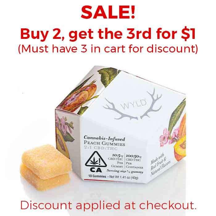 Wyld | Peach Gummies | 2:1 CBD:THC