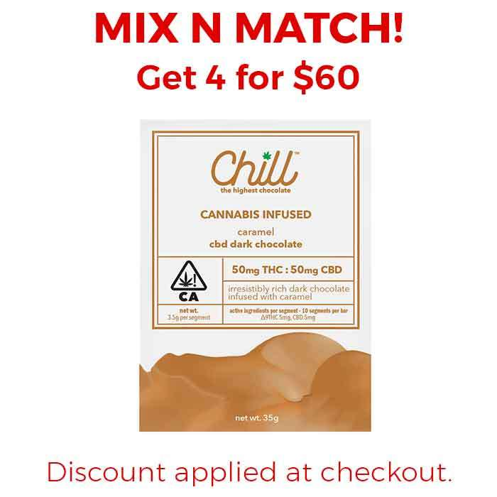 Chill | Carmel Dark Chocolate 1:1 CBD:THC