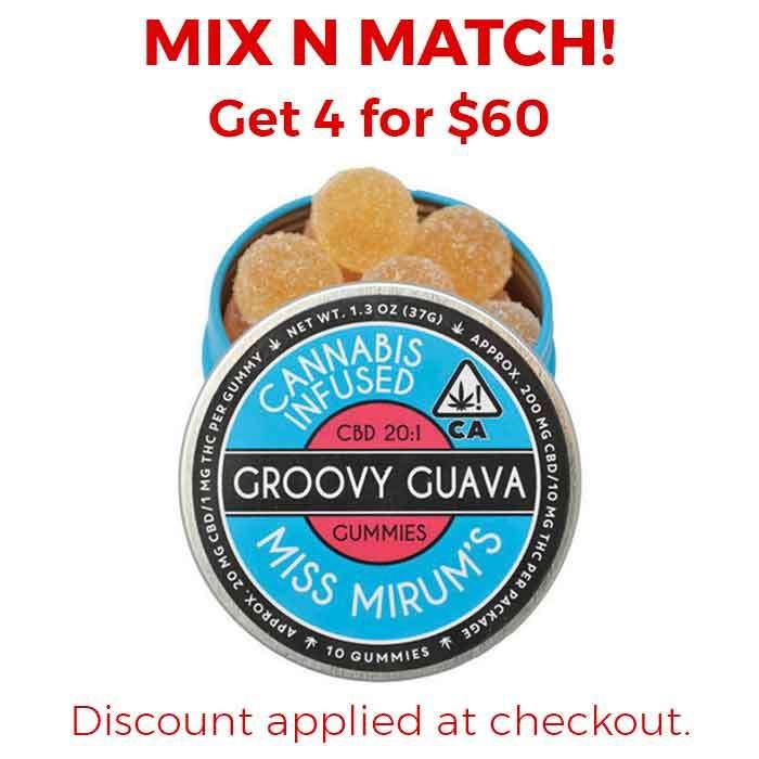 Miss Mirum's | Groovy Guava CBD 20:1 Gummies
