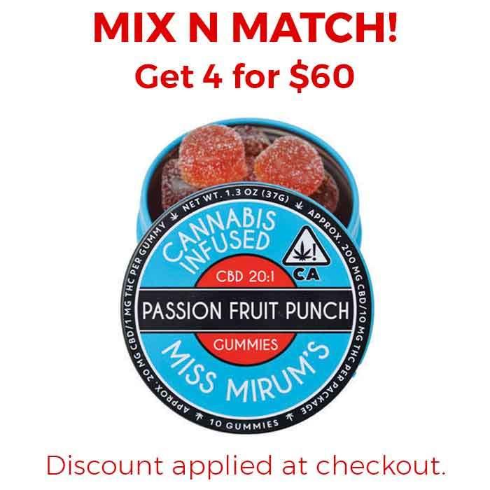 Miss Mirum's | Passion Fruit Punch CBD 20:1 Gummies