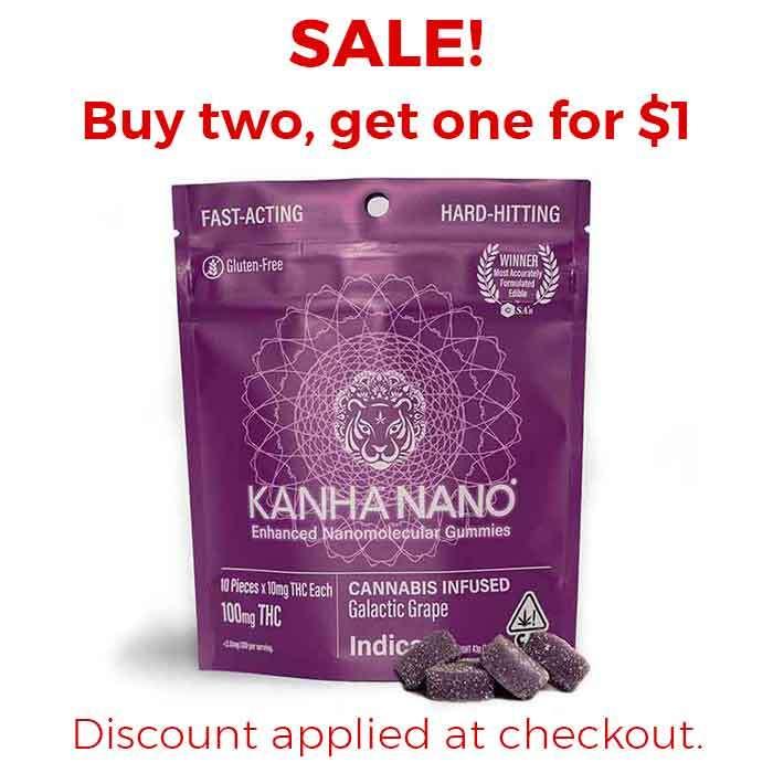 Kanha   Galactic Grape Nano Gummies