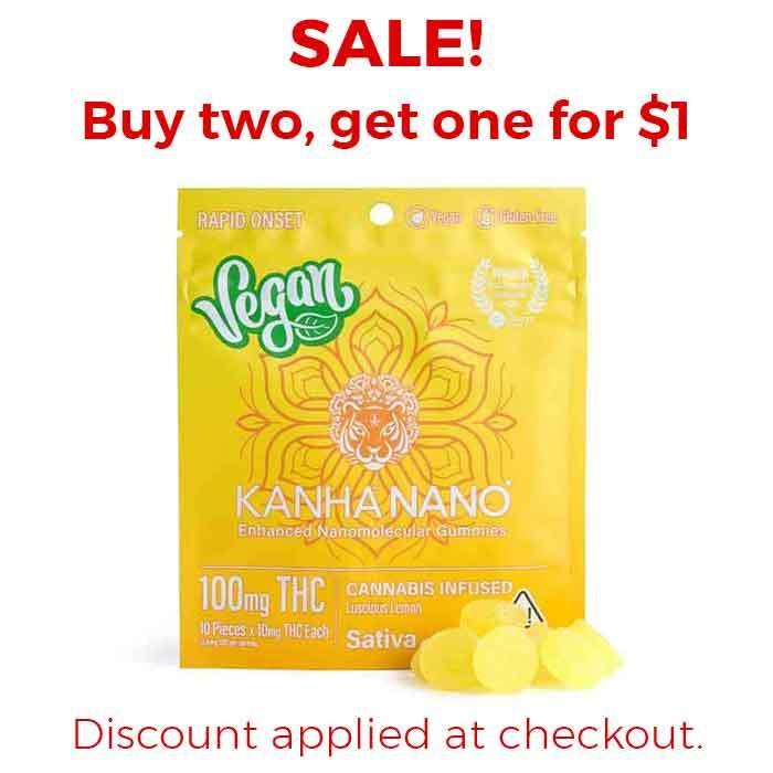 Kanha   Lucious Lemon Vegan Nano Gummies