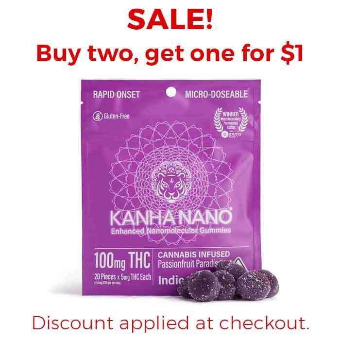 Kanha   Passionfruit Paradise Micro-Nano Gummies