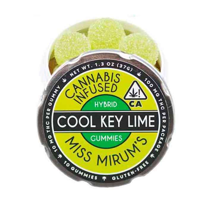 Cool Key Lime Gummies from Miss Mirum's