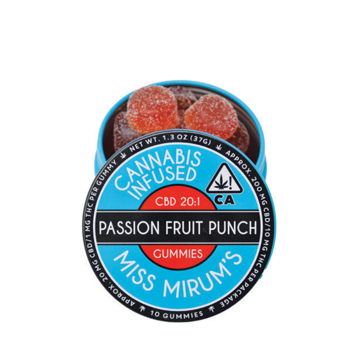 Miss Mirum's | Passion Fruit Punch CBD 20:1 Gummies