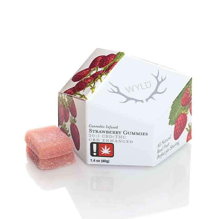 Strawberry Gummies | 20:1 CBD:THC from Wyld