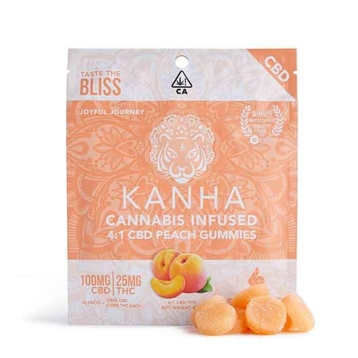 4:1 Peach CBD Gummies from Kanha