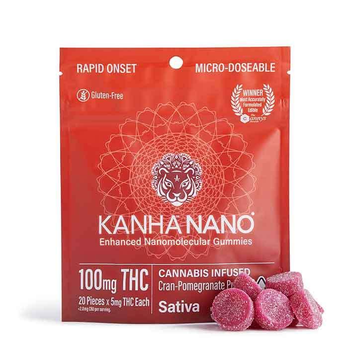 Cran-Pomegranate Punch Micro-Nano Gummies from Kanha
