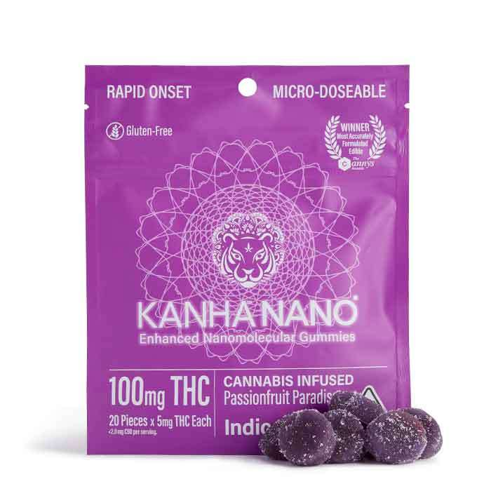 Passionfruit Paradise Micro-Nano Gummies from Kanha