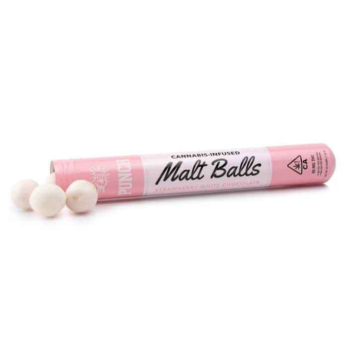 Punch Edibles & Extracts | Malt Balls | Strawberry White Chocolate