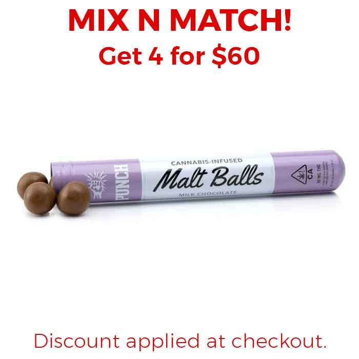 Punch Edibles & Extracts | Malt Balls | Milk Chocolate