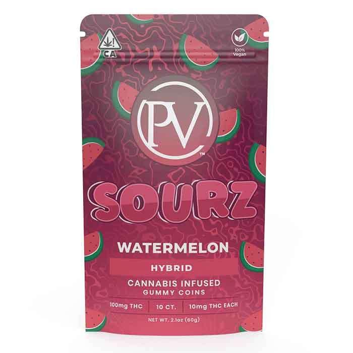 Watermelon Sourz   Gummy Coins from Platinum Vape