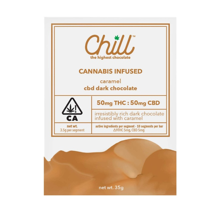 Carmel Dark Chocolate 1:1 CBD:THC from Chill