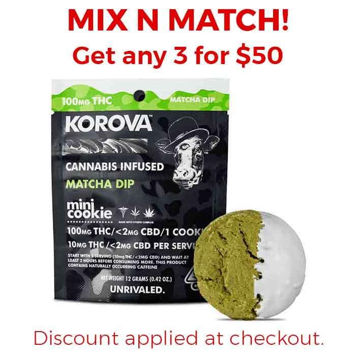 Matcha Mini Dip Single Cookie from Korova