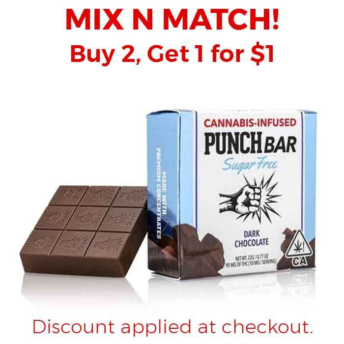 Punch Edibles & Extracts | Sugar Free | Dark Chocolate