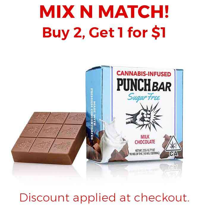 Punch Edibles & Extracts | Sugar Free | Milk Chocolate
