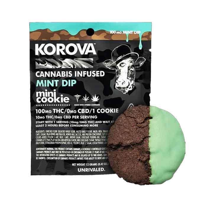 Mint Mini Dip Single Cookie from Korova
